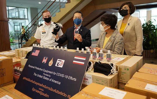 THAILAND - The U.S. Consulate General in Chiang Mai donated equipment and materials supplied by the Joint U.S. Military Advisory Group Thailand (JUSMAGTHAI)