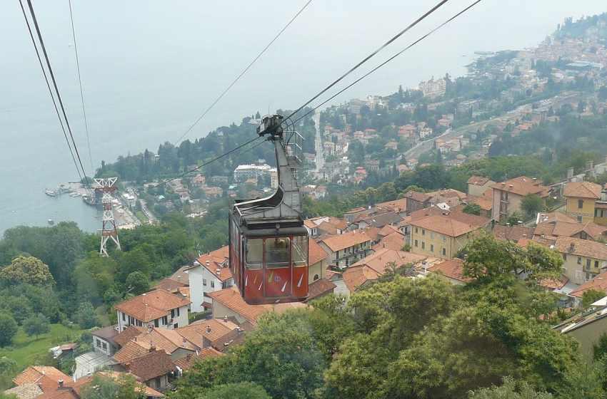 Cable car Funivia Stresa Mottarone in Italy