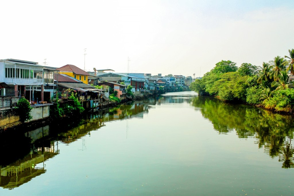 A canal or khlong in Thailand