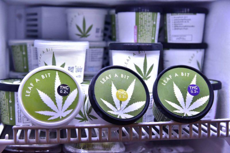 Cannabis ice cream.