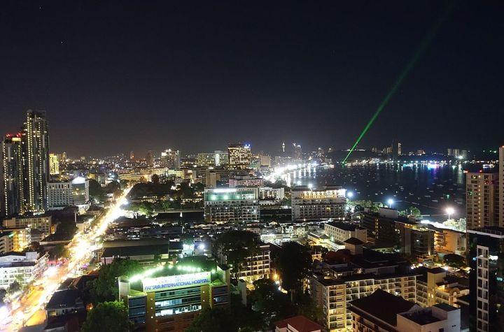 Central Pattaya at night