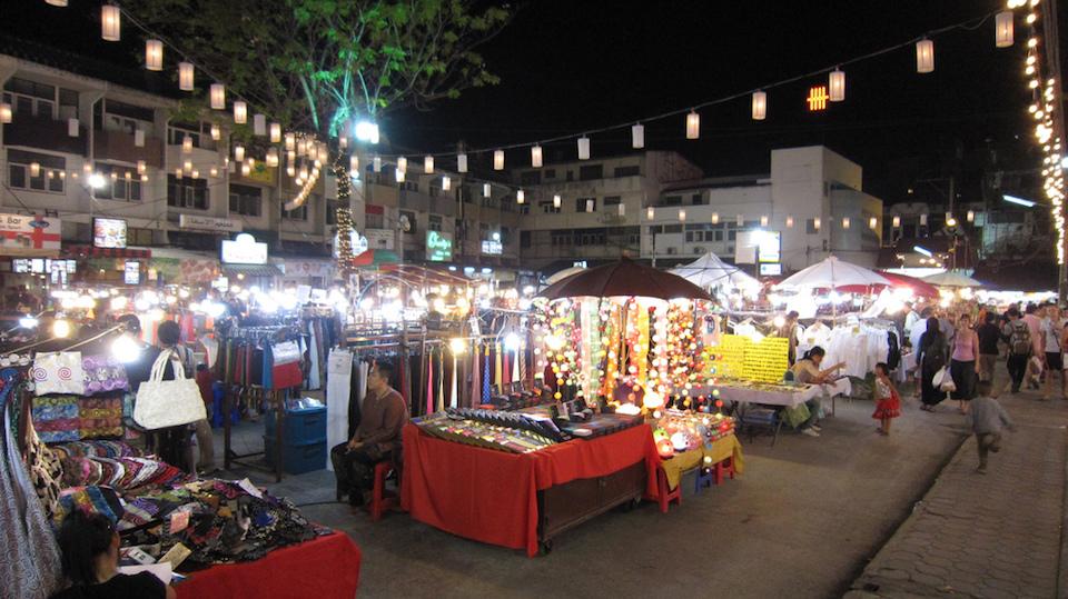Kalare Night Bazaarin Chiang Mai, Thailand