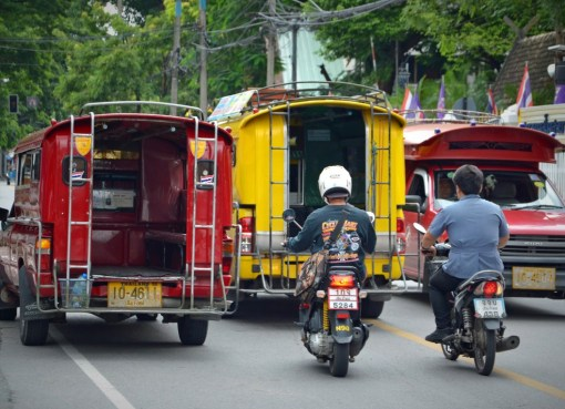 Road traffic in Chiang Mai