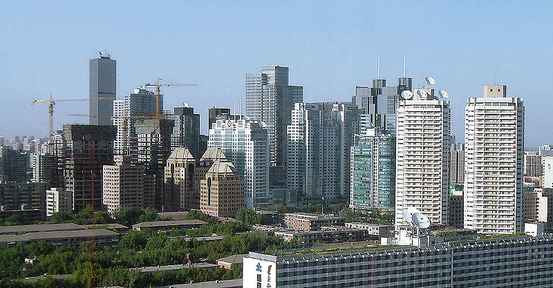 Skyline of Beijing's CBD (Commercial Business District) area