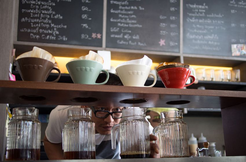 A coffee shop in Bangkok