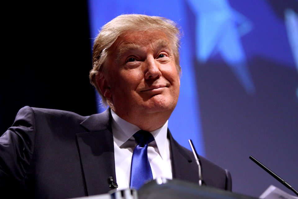 Donald Trump speaking at CPAC in Washington D.C.