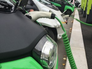 Electric motorcycles charging battery