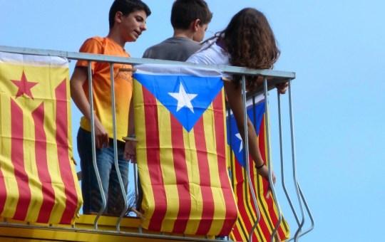 Estelada flags in Catalonia