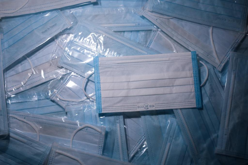 A pack of face masks