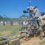 "Crew members filming ""The Alamo"" in 2004"