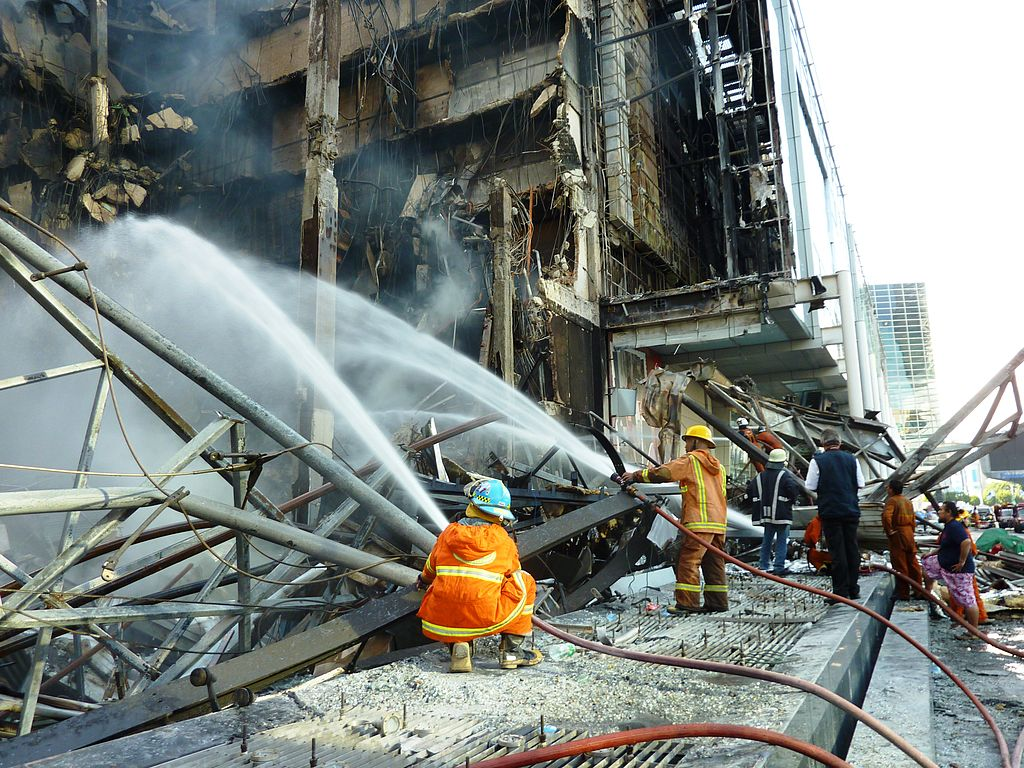 Firefighters at CentralWorld