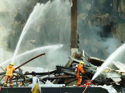 Central World fire during the Red Shirt protests in Bangkok
