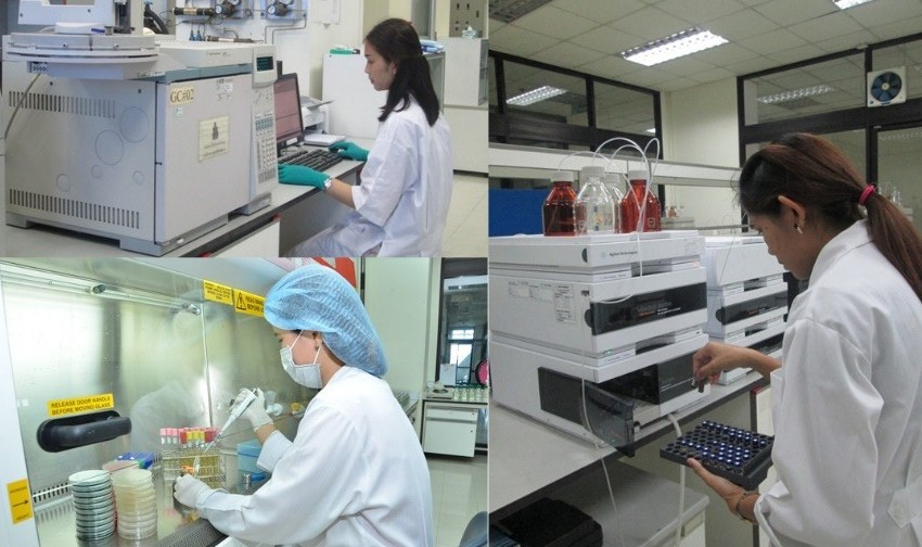 At the Food Research and Testing laboratory