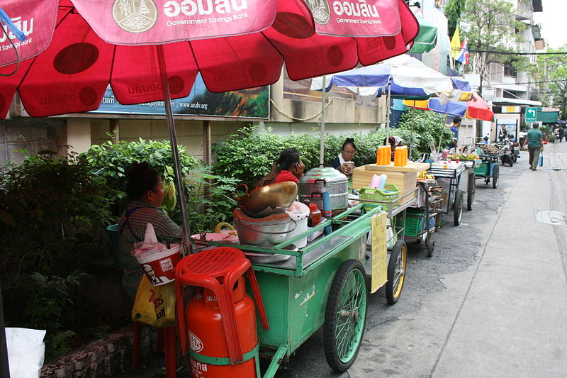 Food stalls in Bangkok
