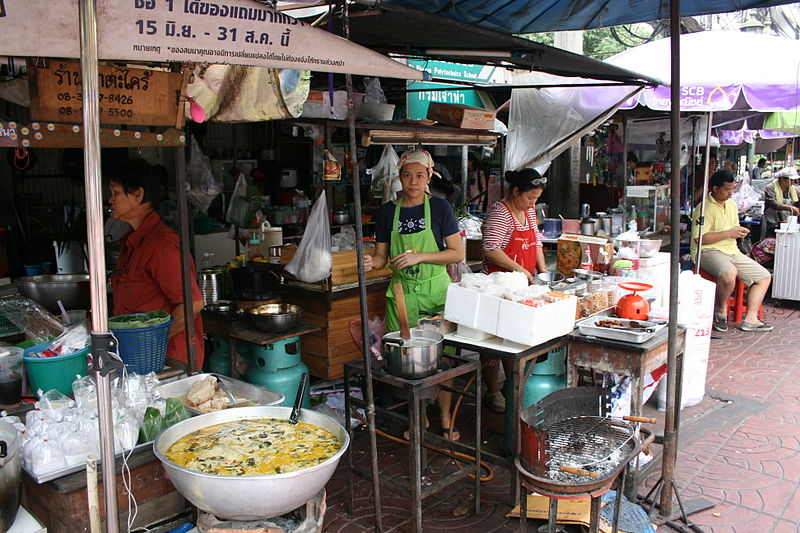 Street food stalls in Bangkok