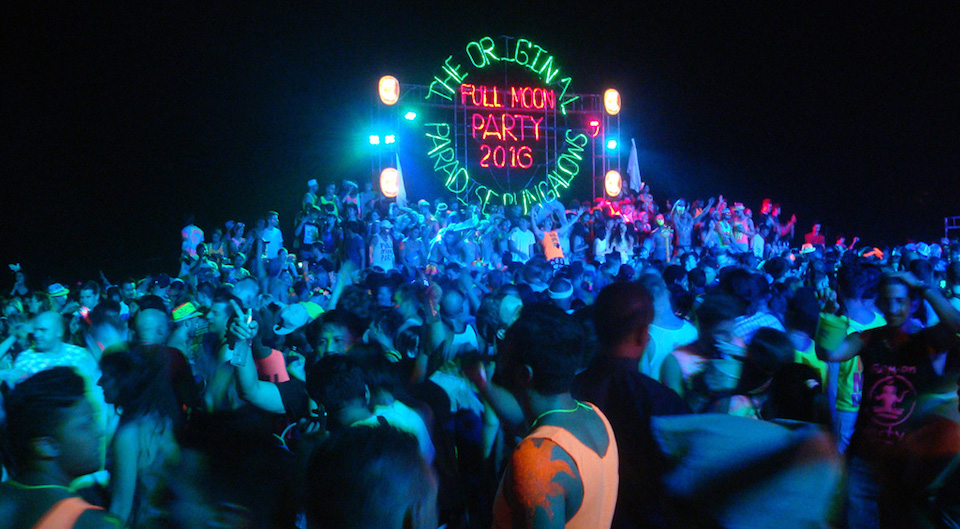 Full Moon Party at Haad Rin beach in Koh Phangan