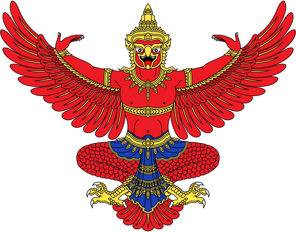 National Emblem of Thailand, depicting a dancing Garuda with outstretched wings