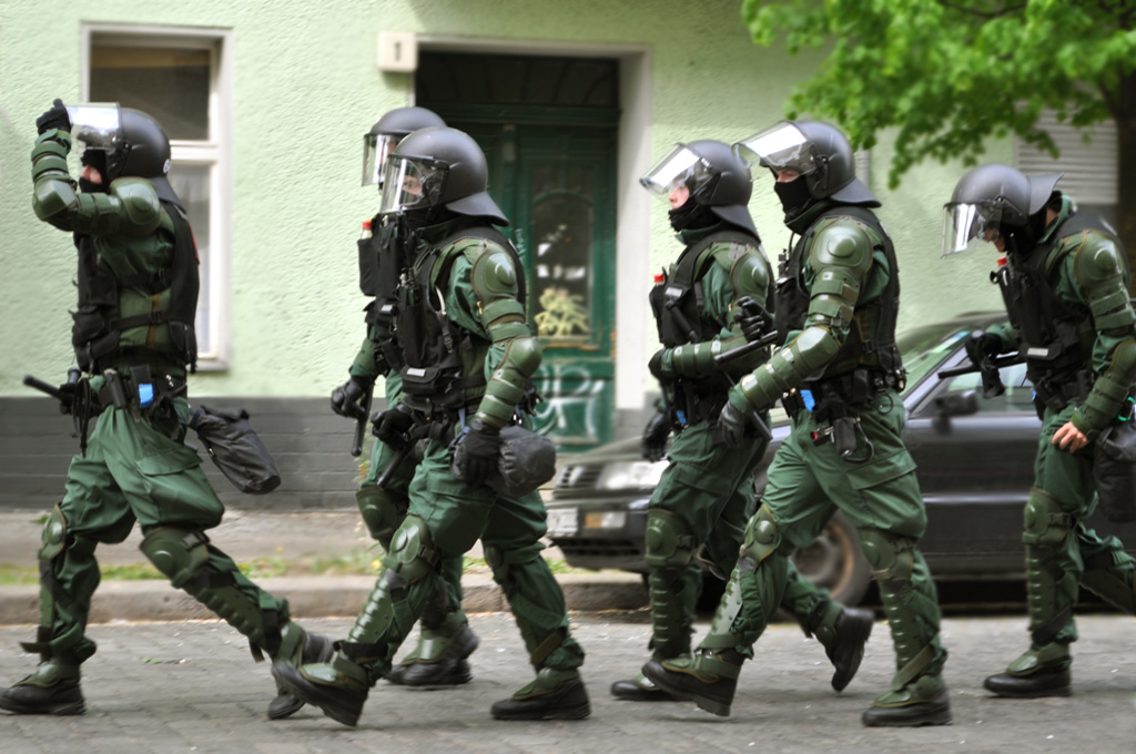 German police in Gotlandstrasse