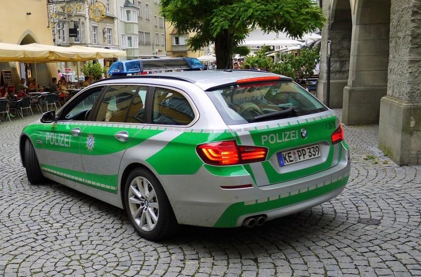 German police BMW car