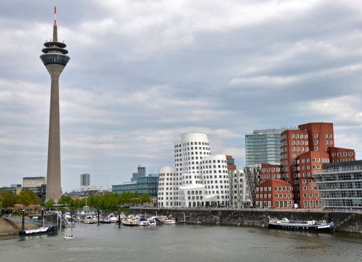 Buildings and TV tower in Düsseldorf, Germany