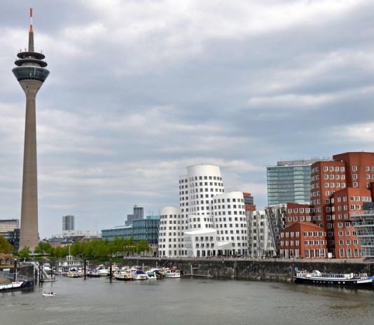Buildings and TV tower in Düsseldorf, Germany