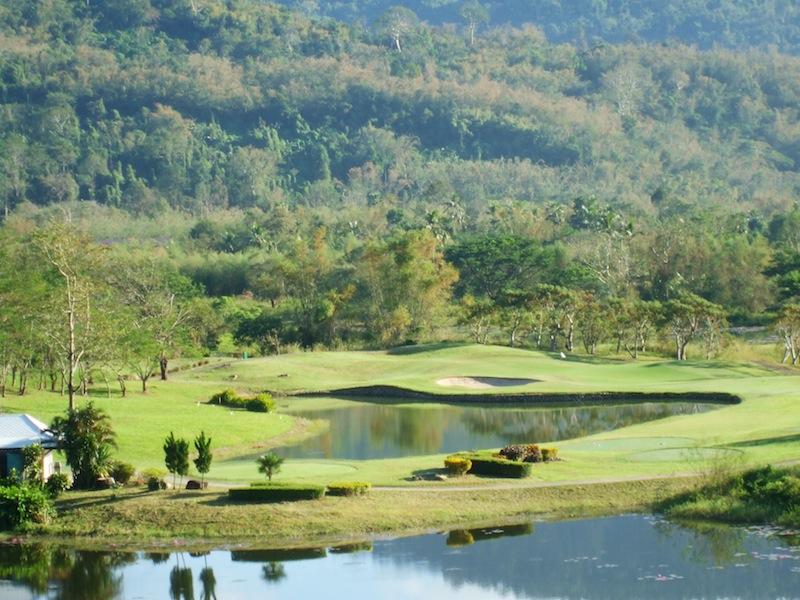 Golf course in Nakhon Nayok, Thailand