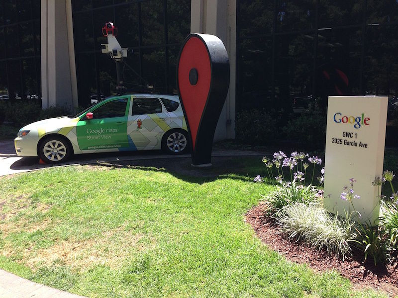 Google Street View Subaru Impreza car at Google Inc. headquarters