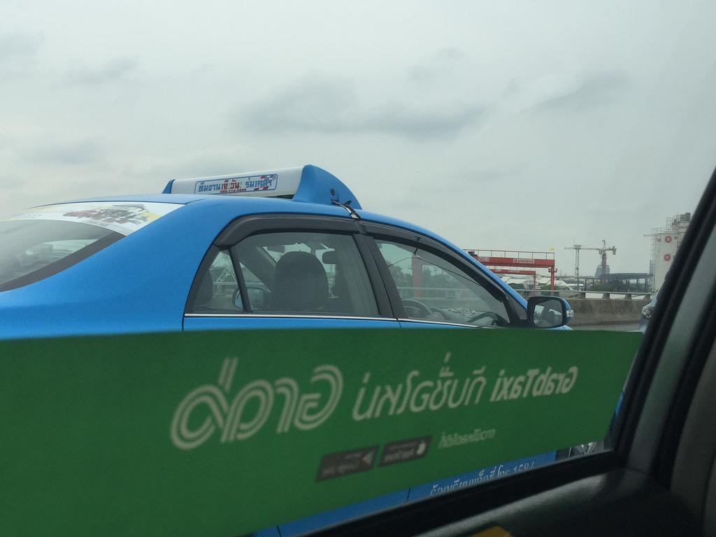 GrabTaxi cab in Bangkok