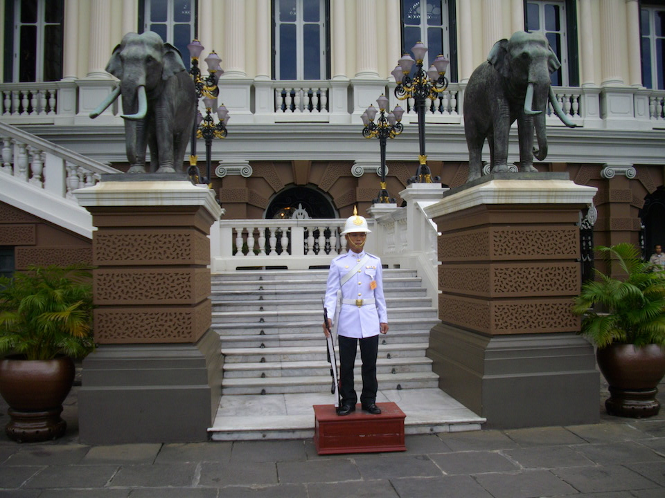 Royal Guard at Chakri Maha Prasat Throne Hall, Grand Palace, Bangkok