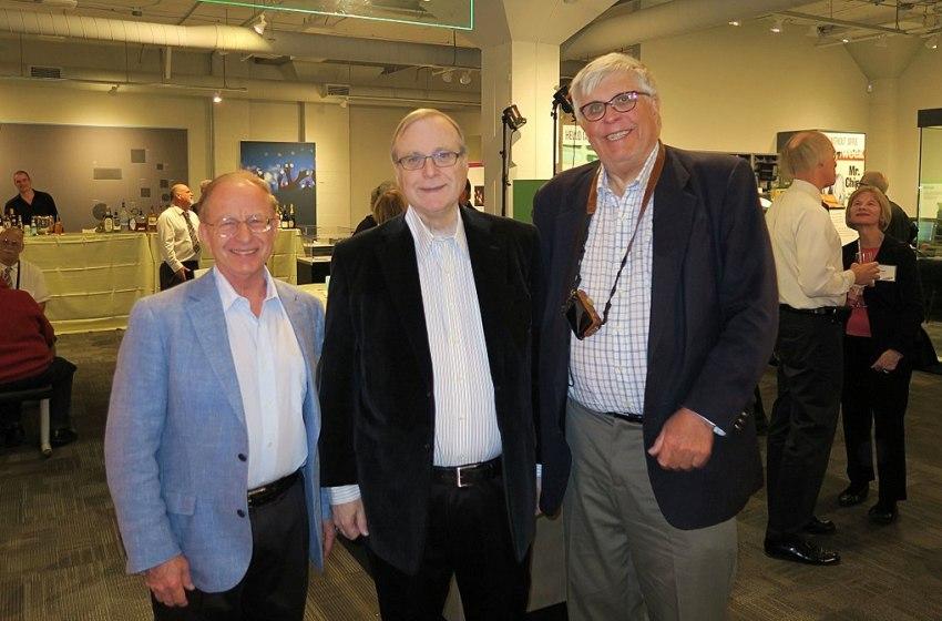 Harry Garland, Paul Allen (Microsoft) and Roger Melen in 2017