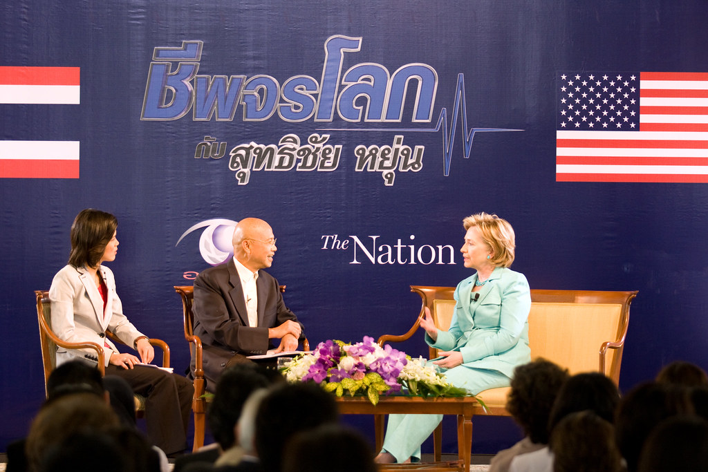 Secretary Clinton Interviews With the Nation Group, Thailand