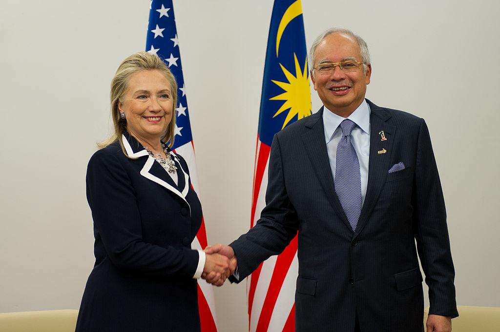 Hillary Clinton with Najib Razak