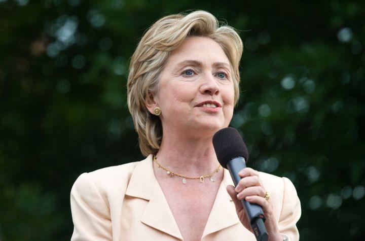 Hillary Clinton during a speech