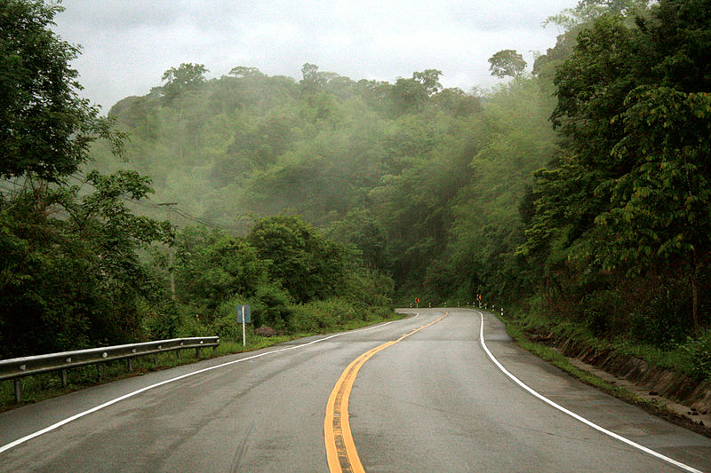 Road through Nam Nao National Park in Phetchabun province