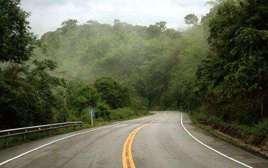 Road through Nam Nao National Park in Phetchabun province