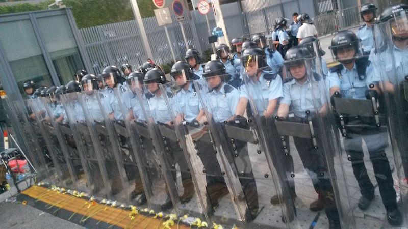 Hong Kong police during protests.