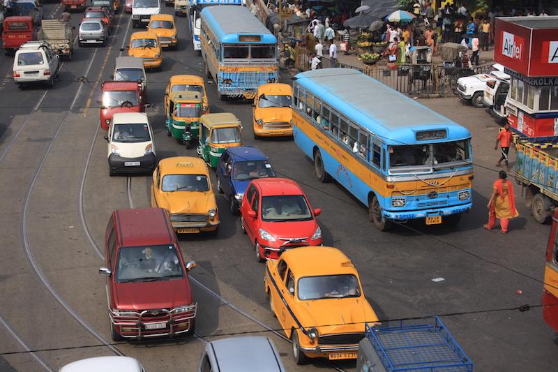 Traffic in Kolkata, India