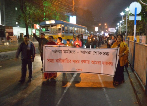 Candlelight rally held in Kolkata, against gang rape