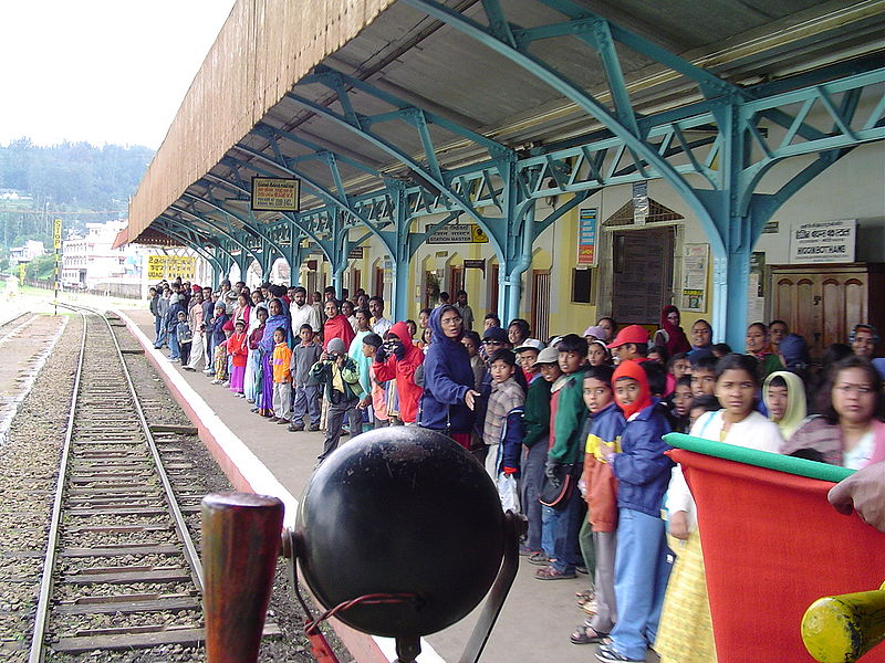 Nilgiri Ooty railway station in India
