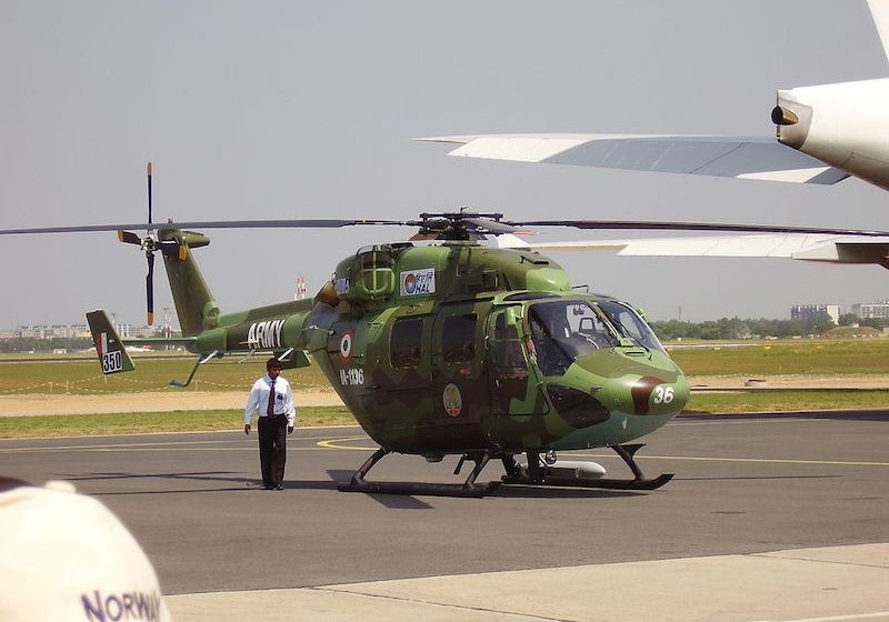 Indian army helicopter crash kills two in Jammu and Kashmir