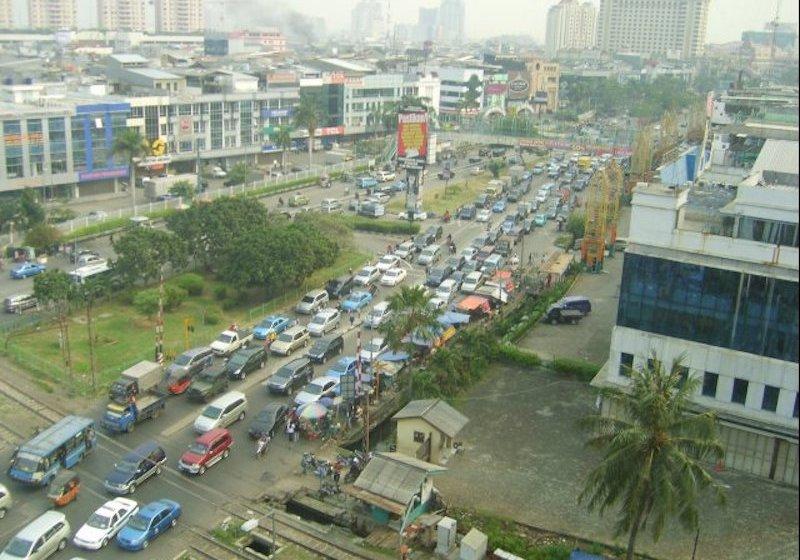 Traffic jam in Jakarta, Indonesia