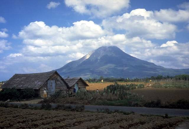 Sinabung volcano in Indonesia