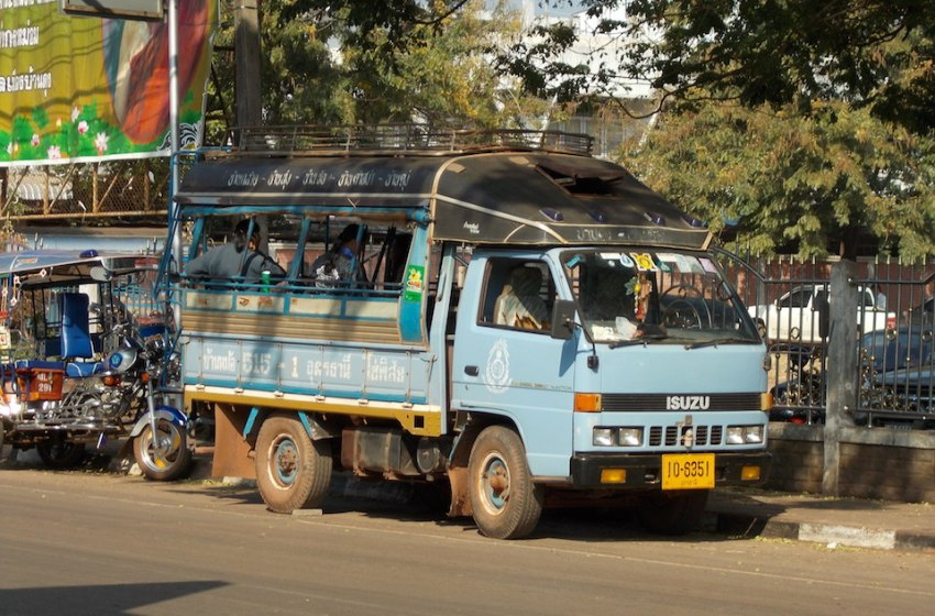 Pick up truck bus in Isan