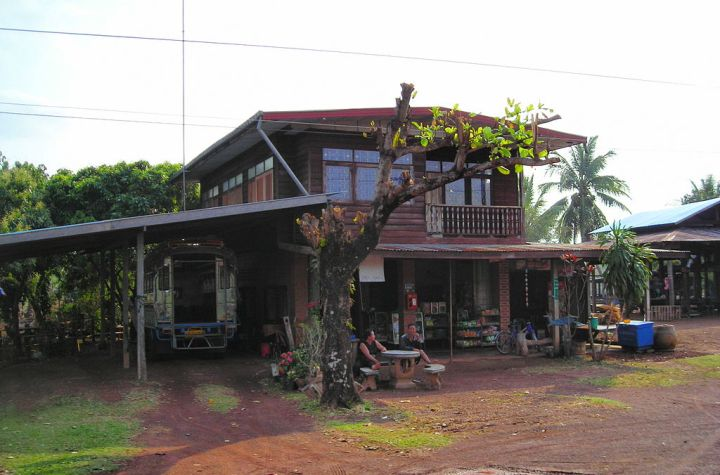 A house combined with a shop in Northeastern Thailand (Isan)