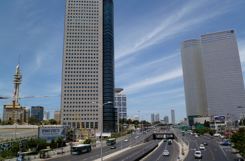 View of Tel Aviv City and buildings in Israel
