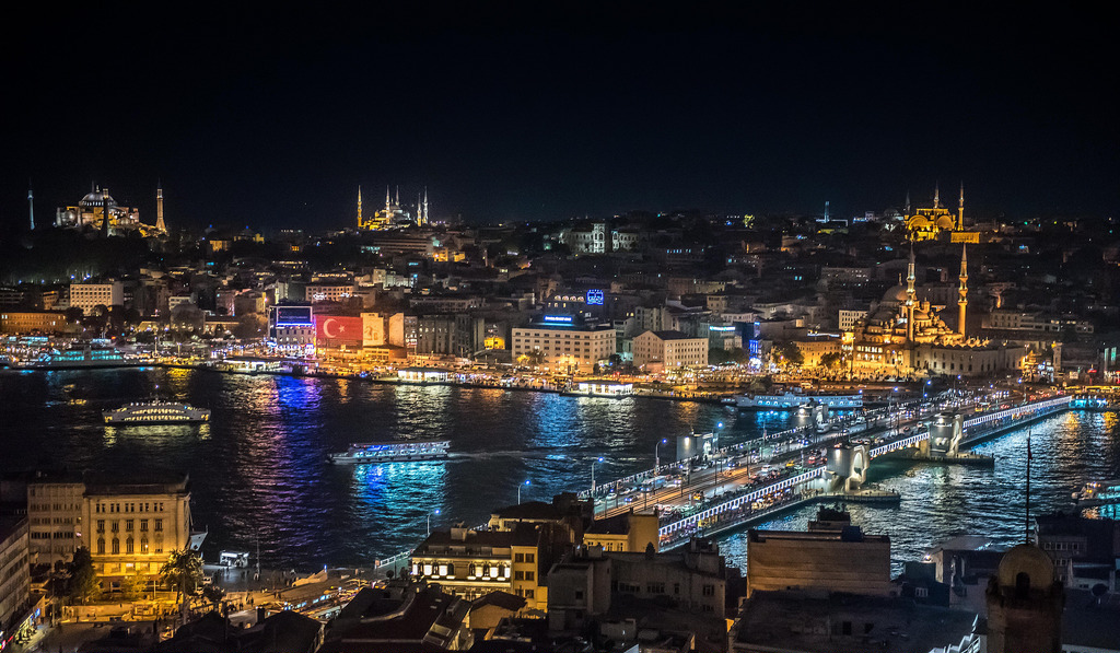 Istanbul by Night, Turkey