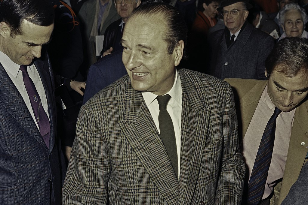 Jacques Chirac at SIA in 1990