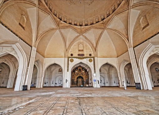 Bijapur Jama Masjid, built between 1557 and 1686, is the largest and the first constructed mosque in Bijapur, Karnataka