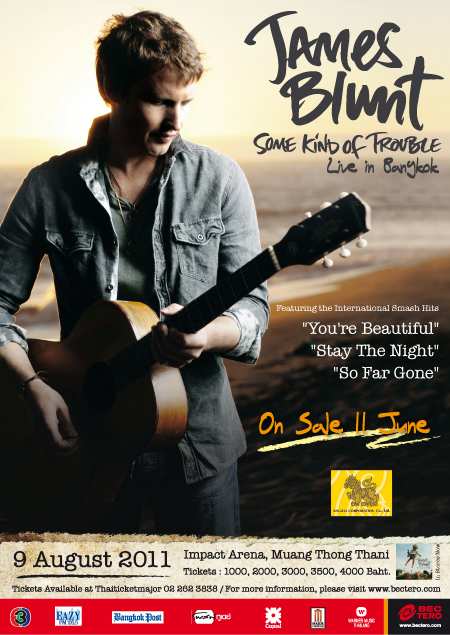 James Blunt live in Bangkok ...อ้างอิง https://www.siamzone.com/board/view.php?sid=2403633