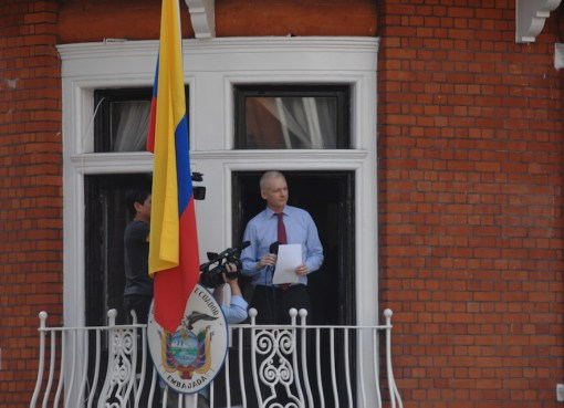 Julian Assange in the Ecuadorian embassy in London